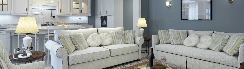 Obývací pokoj středomořském stylu