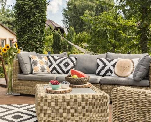 Výběru zahradního nábytku